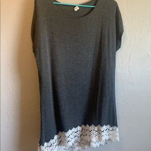Grey Tunic lined with lace
